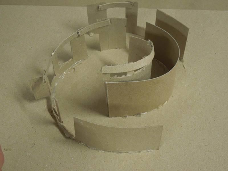 Curvilinear model of house